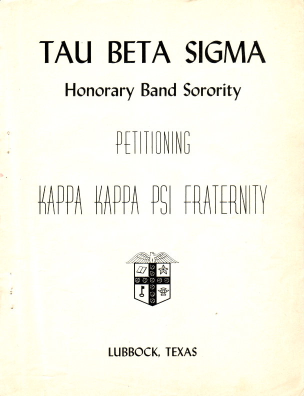 Beta Chapter installed at Texas Technological College