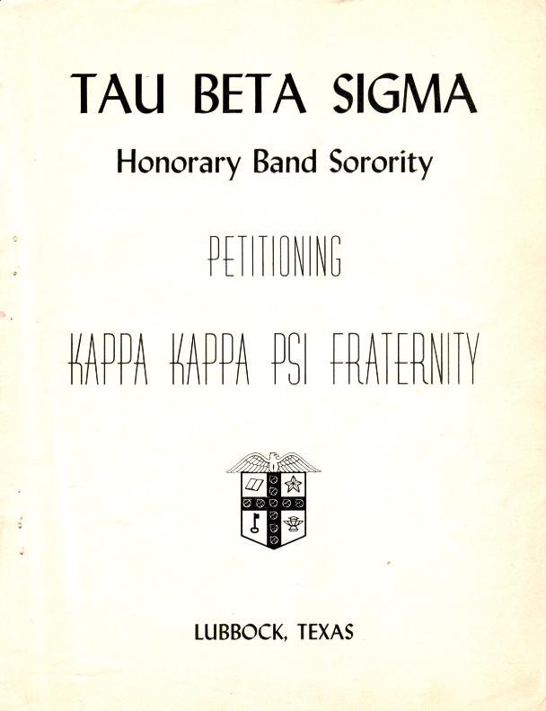 Tau Beta Sigma petitions to become a subordinate of Kappa Kappa Psi