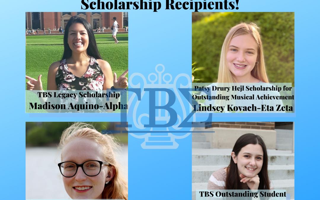 Congratulations to the 2021 Scholarship Recipients!