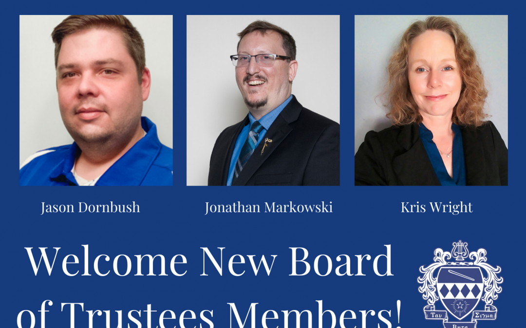 Welcome New Trustees!